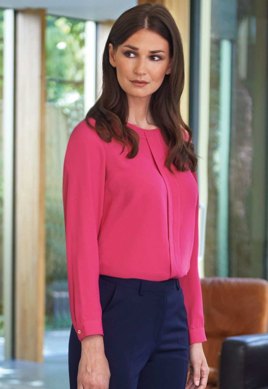 6bf7a72b9d34f Crepe de Chine   Stretch Tops - Shirt And Blouse Collection