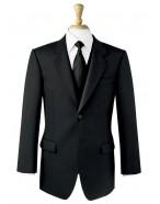 Black Herringbone Lounge Jacket